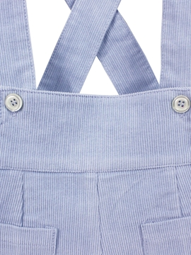 Blue corduroy short with braces