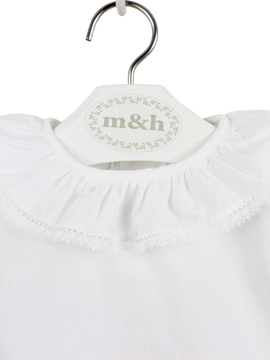 Baby blouse batiste whte stitch