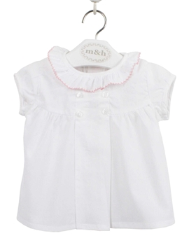 Batiste toddler girl blouse pastel pink lace