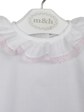 Baby blouse batiste pink stitch
