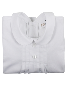 white blouse collar buttons