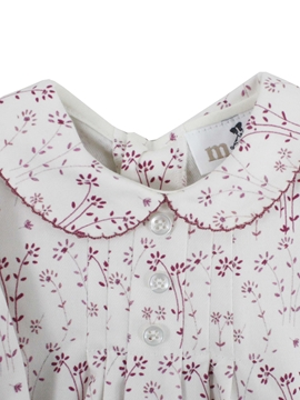 Two buttons blouse burgundy pattern