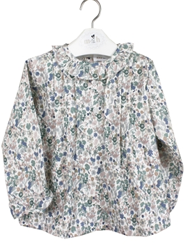 green flowers blouse
