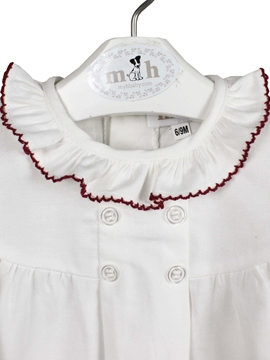 blouse burgundy white