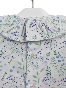 Blouse green blue