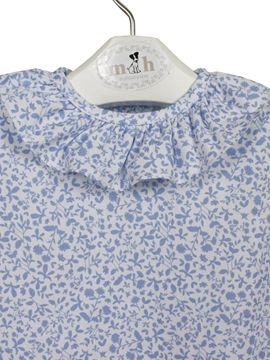 baby blouse blue pattern