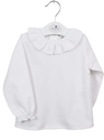 Baby blouse white long sleeve