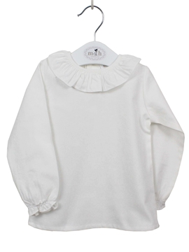 Baby blouse off-white long sleeve