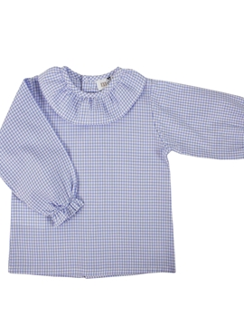 baby shirt long sleeve blue plaid pattern