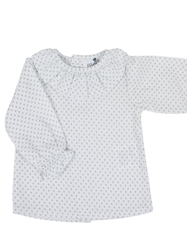 baby blouse blue dots