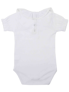 white stitch short sleeves bodysuit