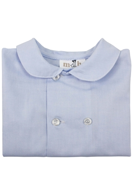 short sleeves blue shirt