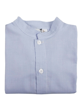 mao collar shirt blue