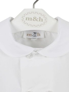 Short sleeve shirt toddler boy. White.