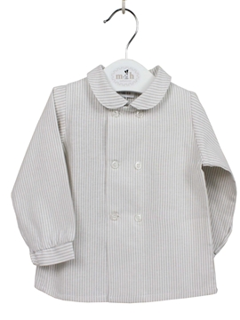 Toddler boy shirt camel stripe