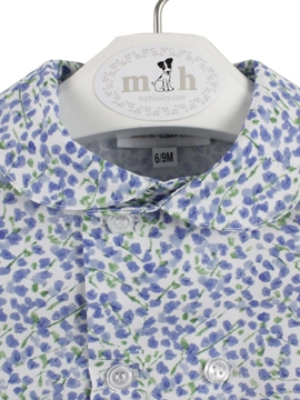 Blue and green pattern shirt