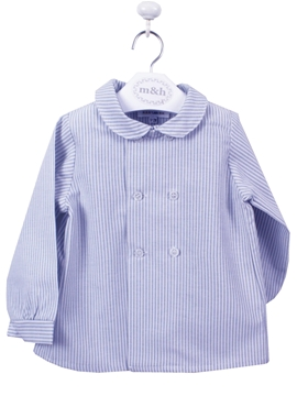double butoning shirt blue stripes