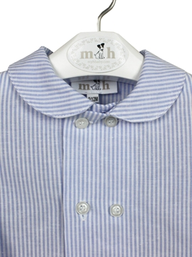 long shirt blue stripes