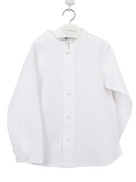 Mao shirt linen white
