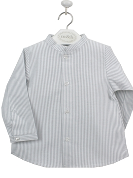 Mao shirt grey stripes
