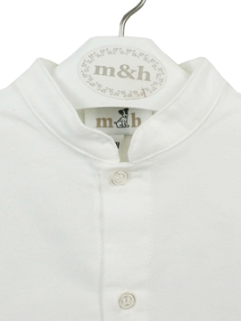 mao collar shirt off white