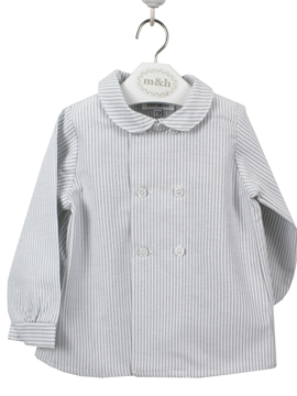 Grey stripe shirt toddler boy