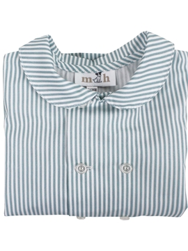 Boy shirt green stripes