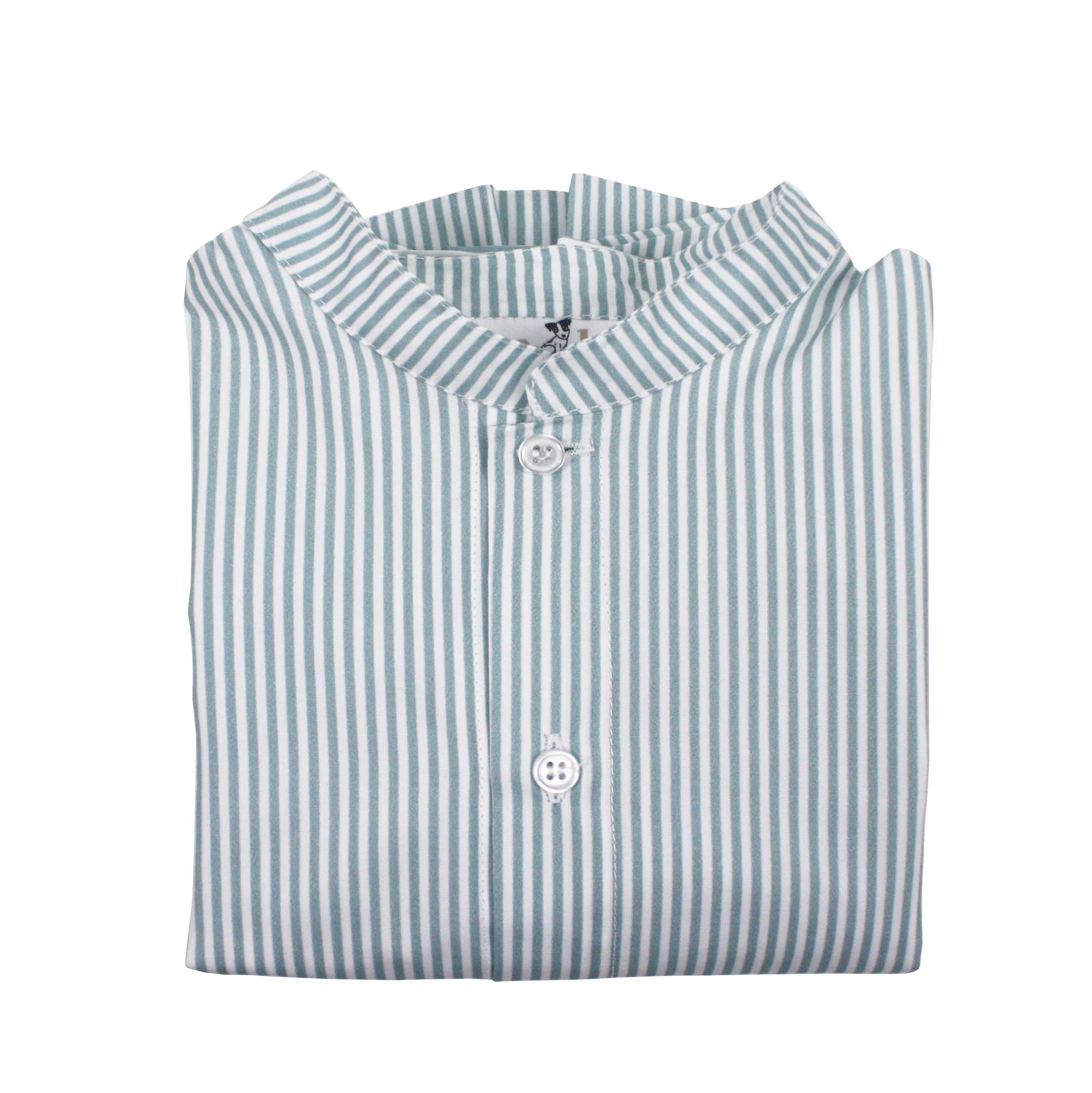 c2ee9841fe camisa niño raya verde mao