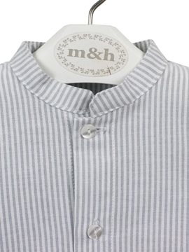 grey stripes shirt mao