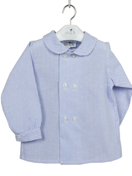 double buttoning shirt blue stripes
