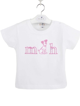 Tshirt cotton white and pink