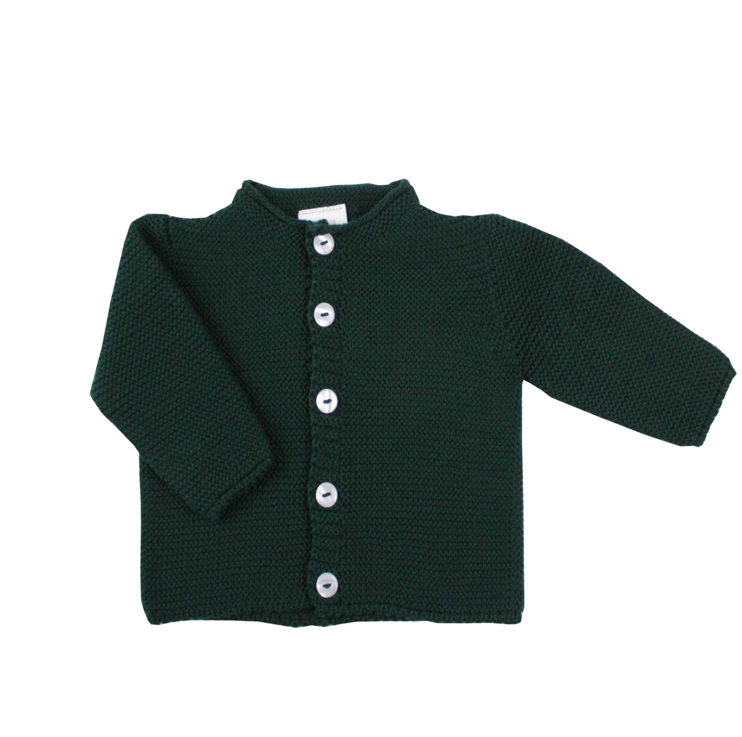 91ca2c588c Long buttoned thick knit cardigan in dark green