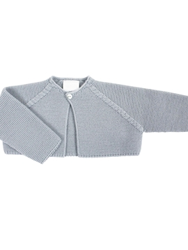 Grey short knitted baby cardigan myh