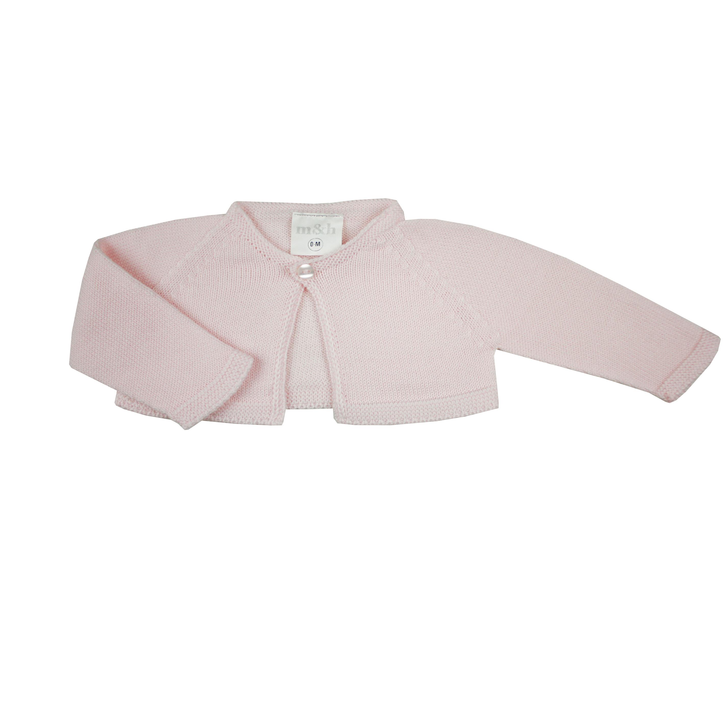 685b7c7fb4ab Pink knit baby cardigan