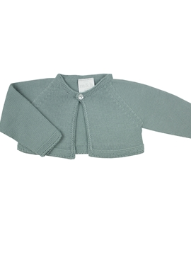 Aquarelle green knit baby cardigan