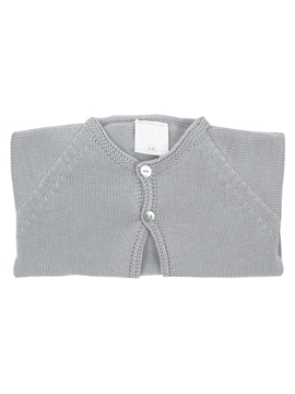 Grey knit baby cardigan
