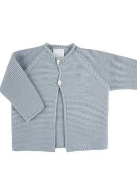 Thick knitted long baby grey cardigan m&h