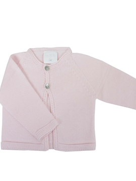 Pink knit baby cardigan
