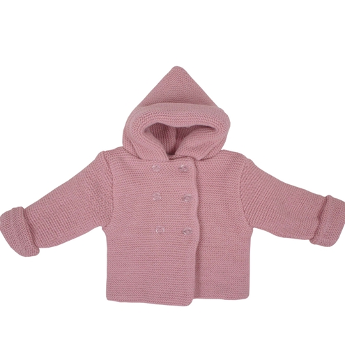 Knitted pink pastel short coat