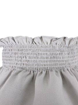elastic waist Grey linen fabric baby bloomer