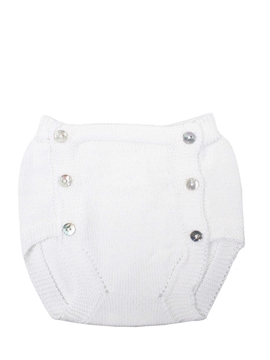 white knit bloomer buttons