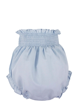 Baby bloomer in blue cotton
