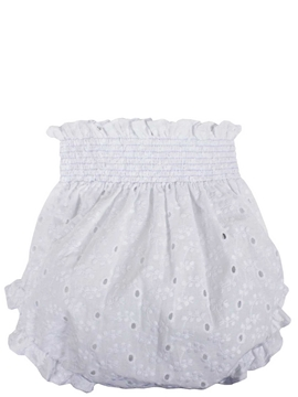 Baby bloomer white batiste