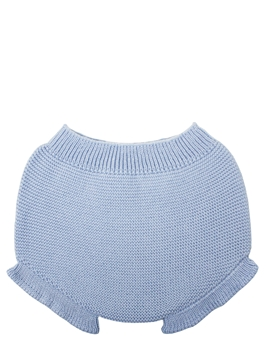 Baby blue knit bloomer with ruffles