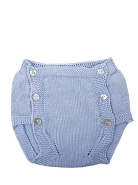 Blue knit baby bloomer