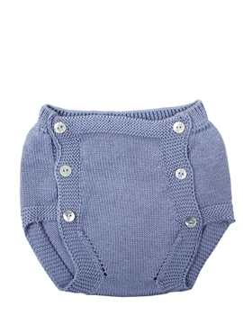 Medium blue knit baby bloomer