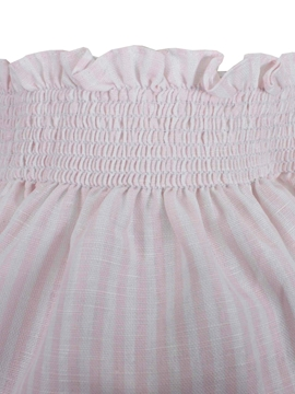 baby bloomer pink stripes linen