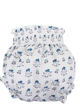 baby romper blue green pattern