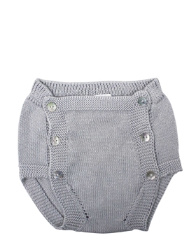 Grey knit baby bloomer