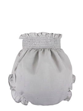 Grey linen fabric baby bloomer